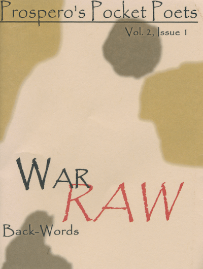 Prospero's Pocket Poets - War Raw, Back-Words - Cover